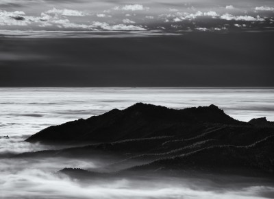 Green Mountain Above The Fog